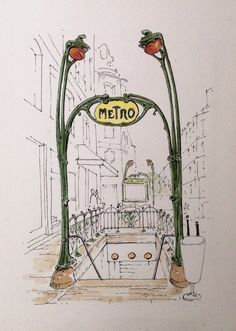 The essence of this entry. Thank you K walitisme for sharing.. Paris Metro ~ sketch