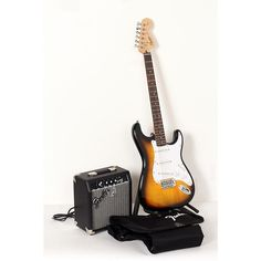 Squier Affinity Stratocaster Electric Guitar Pack w/ 10G Amplifier Brown Sunburst 190839095770