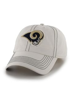 fe18c766f46 Louis Rams NFL Ketch White Adjustable Hat available at End Zone Apparel