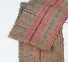 4.6yd Rare Vintage Hemp Hmong Fabric  Organic Hemp by LannaPassa  #vintage #vintagefabric #rarefabric #hmong #hilltribe #fabric #textile #hemp #indigo #indigobatik #batik #handspun #handwoven #vintagetextile #hilltribetextile #indigofabric #etsy #etsyfinds