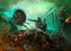 ArtStation - Mythic Battles - Pantheon Box Art, Stefan Kopinski