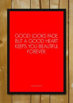 Buy Framed Posters Online Shopping India | A Good Heart Glass Framed Poster | PosterGully
