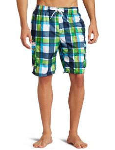 087a1301e4 Kanu Surf Men`s Epic Extended Size Swimwear Trunks $25.00 Navy And Green,  Patterned