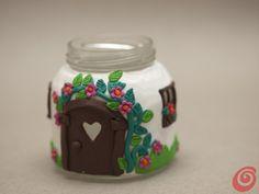 fairy house candle