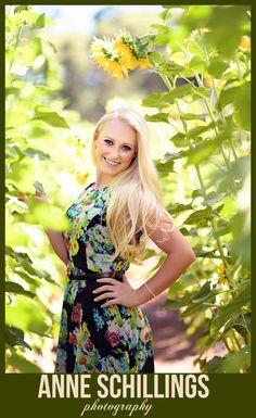 Anne Schillings Photography Senior Portrait Artist Sonoma County High School Girl Female floral dress hat beautiful modern summer spring fall fresh outdoor pretty blonde pose black green pink red blue denim fountain bokah garden water sunlight sunflower 2014   https://www.facebook.com/anneschillingsphotography