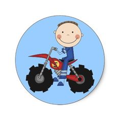 Dirt Bike - Boy Tshirts and Gifts Round Sticker by toddlersplace
