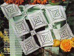 crochet em revista: Toalhinha