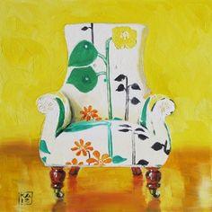 ART, ART, ART! sunny side, painting by artist Kimberly Applegate