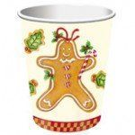 Gingerbread Treats 9 oz. Party Cups 8 Pack by Creative Converting. $3.01. From the Gingerbread Treats Party Supply Collection. Gingerbread Treats Party Cups. Celebrate this holiday season with these charming cups! Perfect for hot or cold liquids, these cups feature cheerful gingerbread men treats against an ivory background with a checkered bottom border. Each package includes 8 paper cups that hold 9 ounces.. Save 24%!