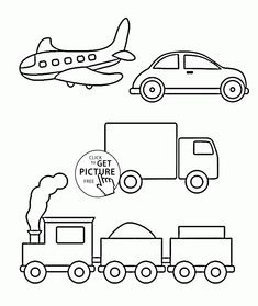 Simple Coloring Pages Of Transportation For Toddlers, Coloring Pages  Printables Free   Wuppsy.com