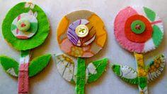 scandi flower brooches