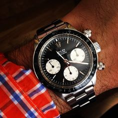 Wearing a 6263 Daytona today, borrowed from a friend. (Taken with Instagram at HODINKEE Headquarters)