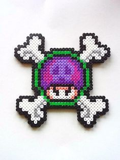 Had nothing to do when I made this Goomba Perler Bead sprite. It is around and it is made from Perler Beads. This will be a great gift for Super Mario Fans. Melty Bead Patterns, Perler Patterns, Beading Patterns, Kandi Patterns, Pearler Beads, Fuse Beads, Stitch Games, Perler Bead Mario, Pixel Beads