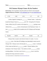 Fill-in-the-blank reading passage about the 2012 Summer Olympic Games (Grades 4-8) http://www.teachervision.fen.com/olympic-games/printable/72403.html #Olympics #OlympicGames