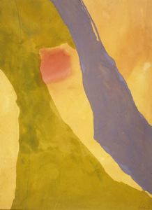 Pistachio by Helen Frankenthaler, 1971. Acrylic on canvas. Abstract Expressionist