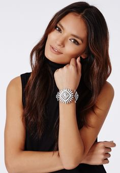 Janna Statement Perspex Cuff Silver - Jewellery - Missguided