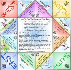 Printable Folding Yoga Game to Download and Play by KarmatimeYoga