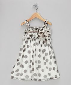 Take a look at this Mocha Polka Dot Dress - Girls by Isobella & Chloe on #zulily today!