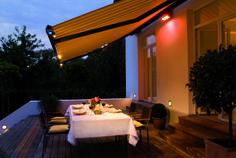 Pergola For Small Patio Garden Seating, Outdoor Seating, Outdoor Spaces, Outdoor Decor, Garden Awning, Awning Lights, Outdoor Awnings, Canvas Canopy, Home Garden Design