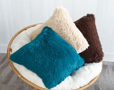 It seems like fuzzy pillows are both warmer and cooler at the same time. Love these shag pillows. Sooo soft!