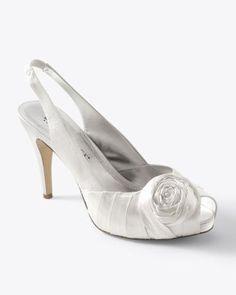75f5e6025bd6 Womens Ivory Satin Rose Heel by White House Black Market Wedding Attire
