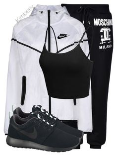 """""""Untitled #1669"""" by whokd ❤ liked on Polyvore featuring Moschino, NIKE and LE3NO"""