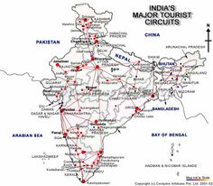 Map depicts Fruit Producing States in India  India Maps