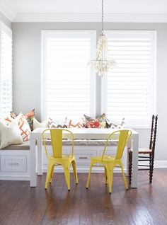 Cecy J Interiors - dining rooms - Chiang Mai Dragon Aquamarine, Schumacher Zimba Orange, West Elm Parsons Dining Table Rectangle in White, L...