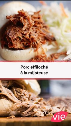 Pulled pork with slow cooker – Dinner Recipes Mexican Dinner Recipes, Lunch Recipes, Crockpot Recipes, Lunch Meals, Leftover Pork Recipes, Pulled Pork, Slow Cooker, Food Porn, Food And Drink