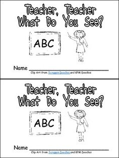 "This emergent reader little book will help young students practice early reading skills, while celebrating the beginning of the school year!! This story uses a predictable pattern, ""Teacher, teacher, what do you see?"" to support emerging readers. The following school vocabulary words are included: teacher, backpack, crayons, glue, scissors, paint, school bus, and children."