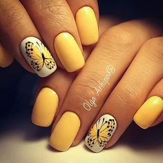 45+ Yellow Nail Art Designs
