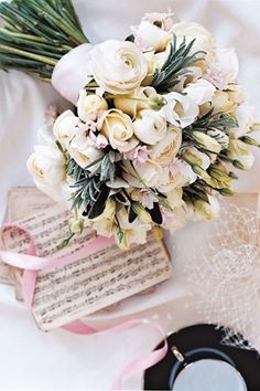 White, cream and silver bouquet with roses, lisianthus and silvery green foliage. Quite a neat, formal shape and style. Wedding Ceremony Music, Wedding Songs, Wedding Bride, Church Wedding, White Flowers, Beautiful Flowers, Cut Flowers, Wedding Bouquets, Wedding Flowers