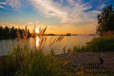 Kemijärvi in summer, Finnish Lapland. Photo by Juhani Maukonen. #filmlapland #arcticshooting #finlandlapland