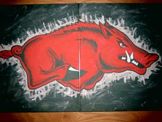 Arkansas Razorback Paintings by CreativiTreat on Etsy, $65.00