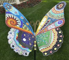 """Dreams"" butterfly mosaic by Irina Charny mosaic artist."