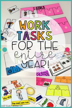 Need work tasks for your Special Education classroom? These 12 activities are perfect for any time of the year. These low prep, high engagement tasks are the best way to get students working independently.