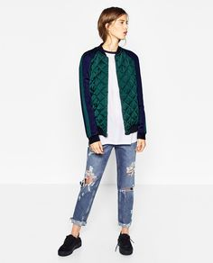 Image 1 of EMBROIDERED REVERSIBLE BOMBER JACKET from Zara