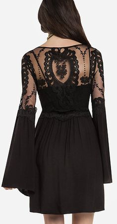 Isabella Dress #black #lace #detail