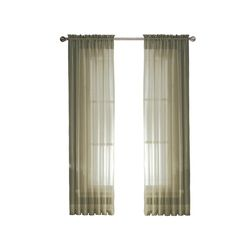 Window Elements Sheer Diamond Sheer 56 In. W X 95 In. L Rod Pocket Extra Wide  Curtain Panel In Beige | Extra Wide Curtains, Wide Curtains And Rod Pocket