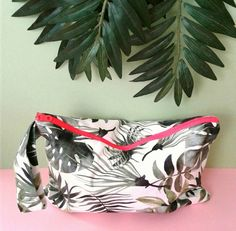 exotic leaves beach mini bag, wet bag Wet Bag, Fashion Fabric, Leaf Prints, Green Leaves, Mini Bag, Exotic, Pouch, Unique, Bags