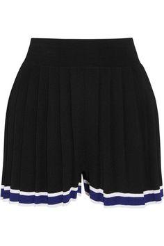 Tabula Rasa - Aracari Pleated Striped Stretch-knit Shorts - Black - x small