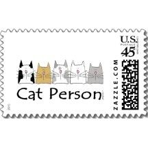 Cat Person Postage Stamp