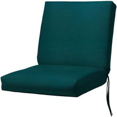 Home Decorators Collection 19 in. W Canvas Spectrum Peacock Bullnose Seat/Back Outdoor Chair Cushion