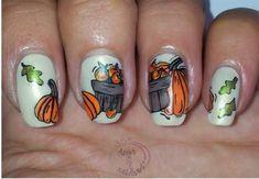 http://www.echopaul.com/ Autumn Nail Art Ideas | 365 Days of Nail Art