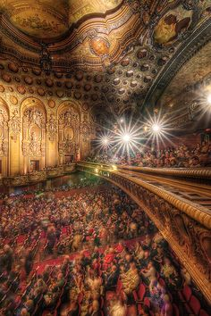 Inside the Los Angeles Theater on Broadway, Los Angeles, California