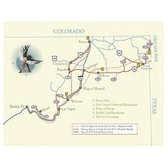 Map of Santa Fe Trail National Scenic Byway - New Mexico Tourism