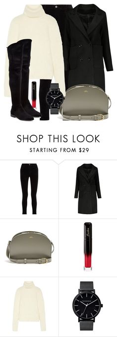 """""""Untitled #5191"""" by beatrizvilar on Polyvore featuring J Brand, A.P.C., Guerlain, Yves Saint Laurent and Donna Karan"""