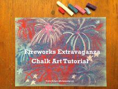 Fireworks Extravaganza Chalk Art Tutorial