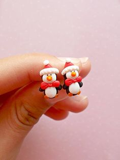 Penguin Earrings, Christmas Outfits for Girls, Funny Gifts, Christmas Handmade Items Gifts For Friends, Girls Earrings