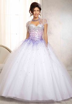 Vizcaya Quinceanera Beaded Dress 88086